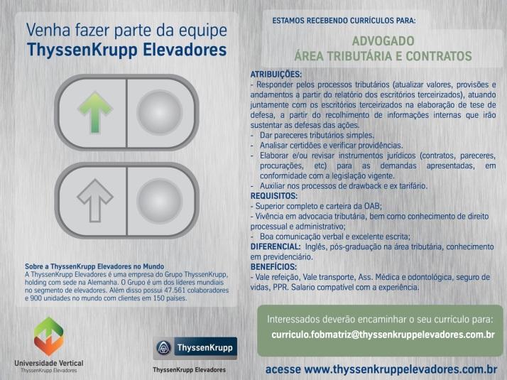Flyer- Divulgação de Vaga