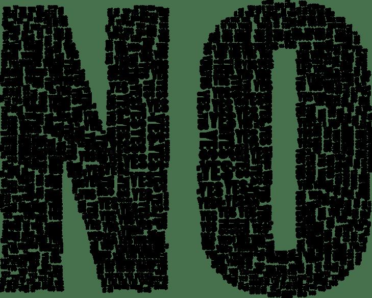 Fonte: https://pixabay.com/pt/sim-não-tipografia-tipo-texto-2069850